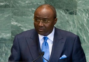 Minister of External Affairs Pierre Moukoko Mbonjo