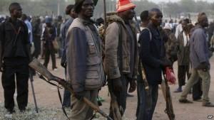 Members of a vigilante group fighting Boko Haram