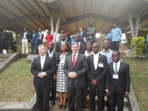 US Ambassador with UB student leaders