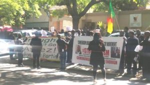 Protesting Cameroonians in South Africa