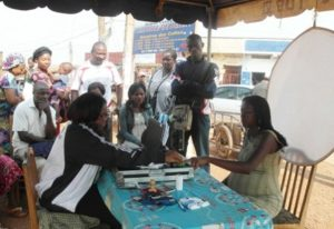 ELECAM officials registering voters