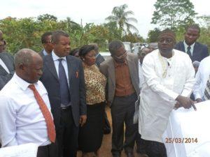 Chief Ebanja points out Mukonje boundaries on map