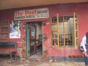 The Post Bureau consummed by fire