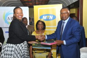 MTN CEO, Sibiya & APME GM, Badga exchanging agreement