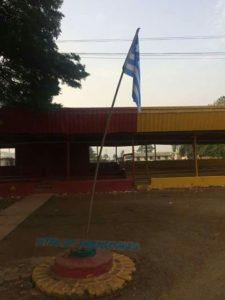 SCNC flag hoisted at Kumba grandstand