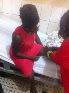 UB student nursing her injuries